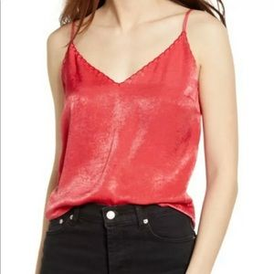 NWT SM Nordstrom's 'Saucy Red' by B.P. Satin Cami!